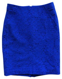The Limited Pencil Lace Skirt Blue