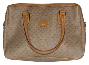 Gucci Doctor's Speedy/boston Removable Strap Print Satchel in shades of brown with small G logo