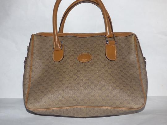 Gucci Doctor's Speedy/Boston Shades Of Removable Strap Satchel in brown small G logo print coated canvas and camel leather Image 1