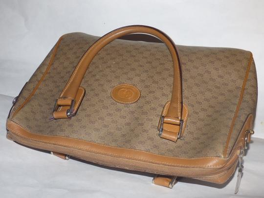 Gucci Doctor's Speedy/Boston Shades Of Removable Strap Satchel in brown small G logo print coated canvas and camel leather Image 2