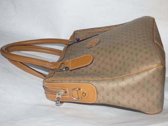 Gucci Doctor's Speedy/Boston Shades Of Removable Strap Satchel in brown small G logo print coated canvas and camel leather Image 3