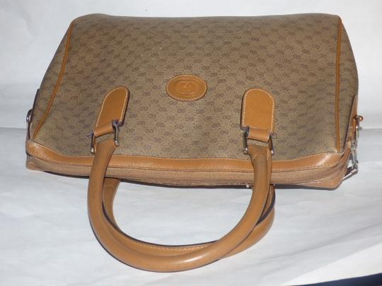 Gucci Doctor's Speedy/Boston Shades Of Removable Strap Satchel in brown small G logo print coated canvas and camel leather Image 4