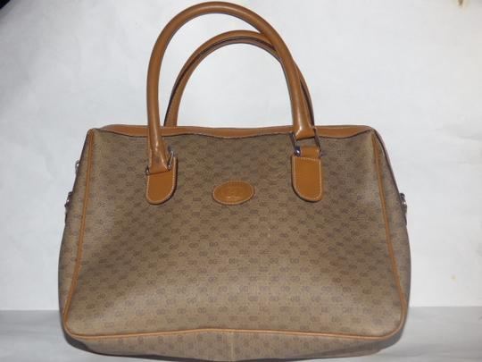 Gucci Doctor's Speedy/Boston Shades Of Removable Strap Satchel in brown small G logo print coated canvas and camel leather Image 6