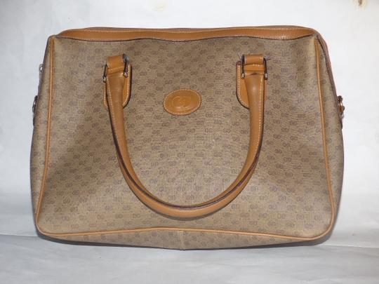 Gucci Doctor's Speedy/Boston Shades Of Removable Strap Satchel in brown small G logo print coated canvas and camel leather Image 7