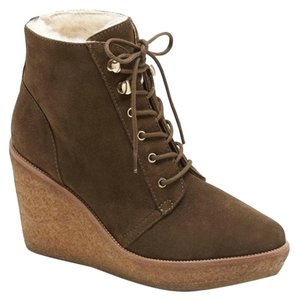 Vince Camuto Signature New With Tags Shearling Designer Oliva Wedges