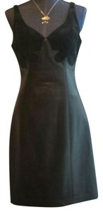 North Beach Leather Suede Scalloped Dress