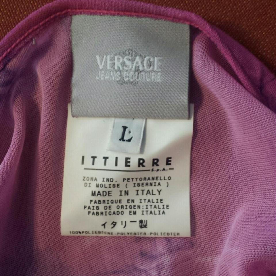 475a0c5d5 Versace Jeans Collection Fuchsia Blue Tie Dye Tee Shirt Size 8 (M ...