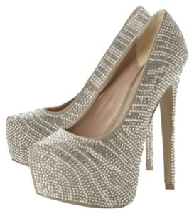 Steve Madden Crystals Pumps Diamond silver Platforms