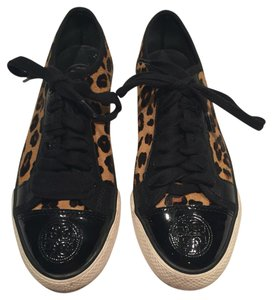 Tory Burch Black and leopard print Athletic