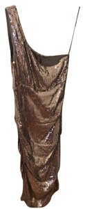 Nicole Miller Asymmetrical Sequin Ruche Dress