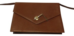 Vintage Leather light brown Clutch
