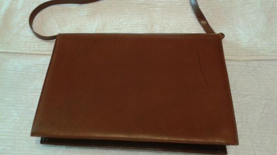 Other Vintage Leather Leather light brown Clutch Image 2
