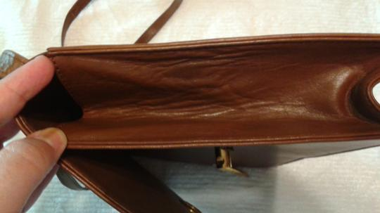 Other Vintage Leather Leather light brown Clutch Image 4