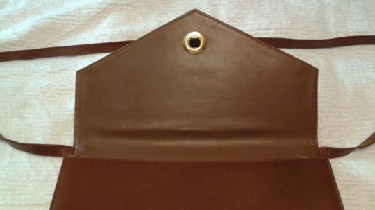 Other Vintage Leather Leather light brown Clutch Image 6