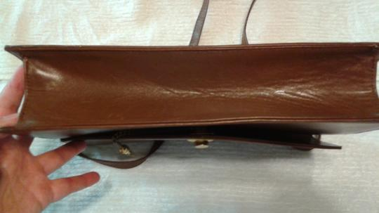 Other Vintage Leather Leather light brown Clutch Image 8
