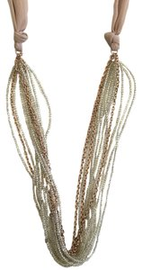 INC International Concepts INC Beaded Rose Gold Ribbon Necklace