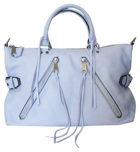 Rebecca Minkoff Leather Satchel in soft blue