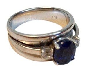 Kay Jewelers Sapphire Ring with Large Band