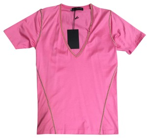 Dsquared2 Chain V-neck T Shirt Pink