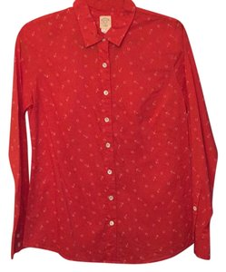 J.Crew Button Down Shirt Red