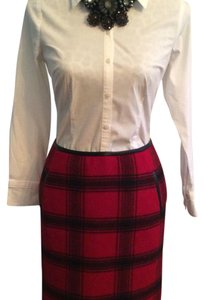 Talbots Skirt Black and red