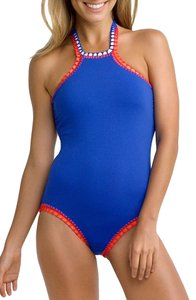SeaFolly Seafolly Summer Vibe High Neck Maillot Swimsuit AU 8 (US 4 )
