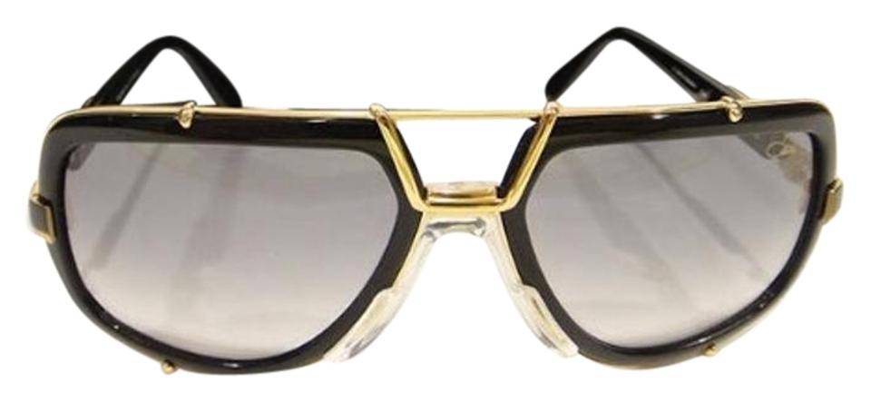 49f21bba72e Cazal Black Gold 656 3 656 Legend Shiny (Col-1) New Sunglasses - Tradesy