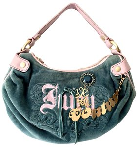 Juicy Couture Velour Girly Cute Couture Juicy Hobo Bag