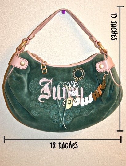 Juicy Couture Velour Girly Cute Hobo Bag Image 10
