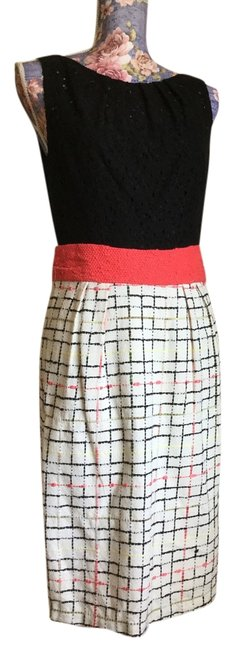 Preload https://img-static.tradesy.com/item/18769312/milly-blackdark-pinkmulti-multi-colored-sleeveless-long-workoffice-dress-size-8-m-0-1-650-650.jpg