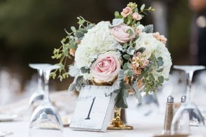 White Distressed Shabby Chic Table Numbers