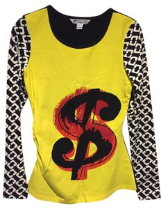 Diane von Furstenberg Dvf Andy Warhol T Shirt Yellow/Black/White/Red
