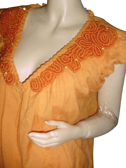 Preload https://img-static.tradesy.com/item/18769387/max-studio-sunset-orange-leon-wool-silk-unique-tangerine-corded-trim-blouse-size-6-s-0-1-650-650.jpg