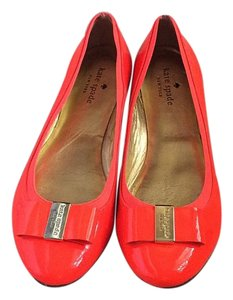 Kate Spade Bright red/orange Flats