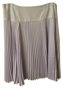 Nanette Lepore Pleats Silk Pleated Skirt Lavender