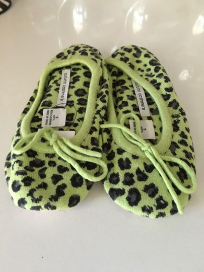 Autumn Cashmere Green and Black Leopard Flats Image 1