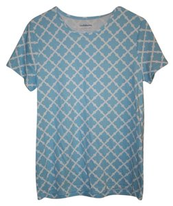 Croft & Barrow T Shirt Blue and White