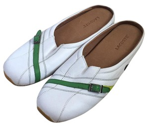 Lacoste White with green Flats
