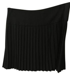 Aqua Pleats Mini Skirt Black