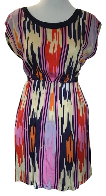 Item - Multicolor Colorful Above Knee Short Casual Dress Size 8 (M)