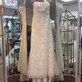 Pronovias Off White Lace and Organza Welcome Modern Wedding Dress Size 14 (L) Image 0