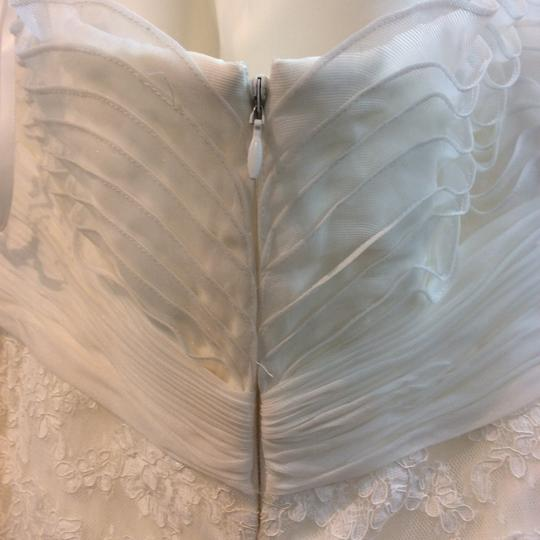 Pronovias Off White Lace and Organza Welcome Modern Wedding Dress Size 14 (L) Image 2