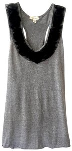 Silence + Noise Texture Floral Rose Racerback Urban Outfitters Top Grey, Black