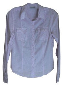 Halogen Button Down Shirt Lavender
