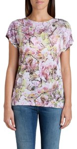 Ted Baker Cherryblossom Graphictee Cute New T Shirt Multi