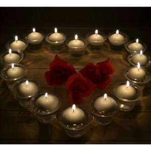 New 20pcs Round White Floating Candles Wedding Reception Decor