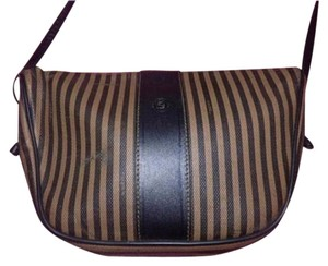 Fendi Excellent Vintage Popular Print Popular Shape Crescent Shape Body/Shoulder Cross Body Bag