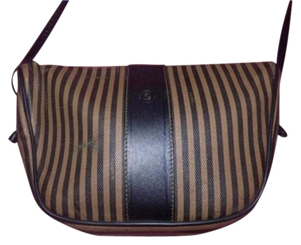 375d2b63f5 Fendi Excellent Vintage Popular Print Popular Shape Crescent Shape Body Shoulder  Cross Body Bag Image ...