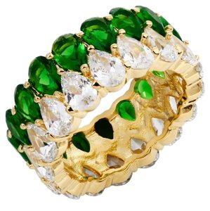 Other CZ Emerald Green Pear Shape Eternity Band [SHIPS NEXT DAY]