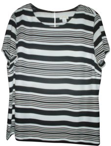 Chico's Striped Top Black/White